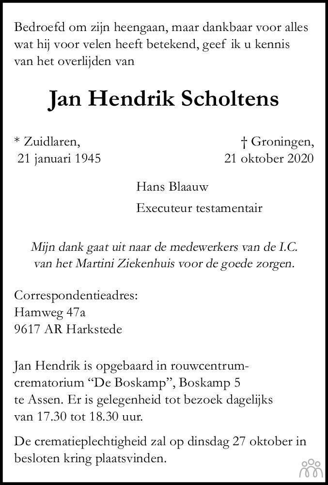 Jan Hendrik Scholtens